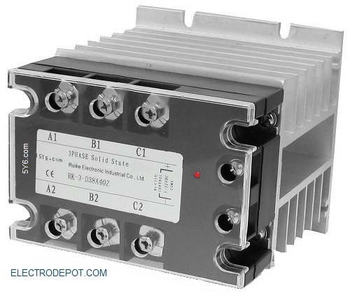 3 phase Silent solid state 3 pole Contactor on